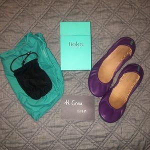 Lilac Tieks Size 10 - VGUC